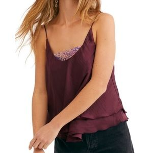 Free People Turn It On Cami Vetiver Bloom
